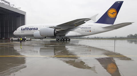 A380 am Frankfurter Flughafen