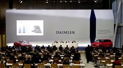Photo Gallery Annual Press Conference Daimler AG