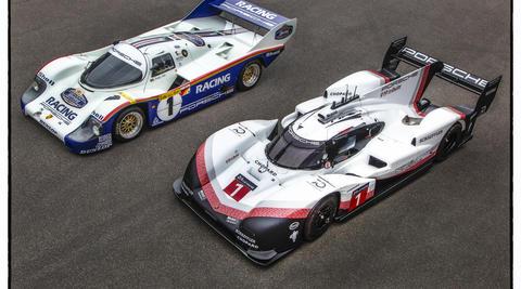 Porsche 919 Hybrid Evo and 956 C