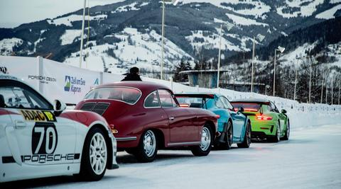 Demo-drive on ice, Zell am See, 2019, Porsche AG